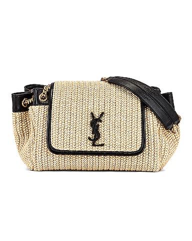 Nolita Monogramme Raffia Shoulder Bag