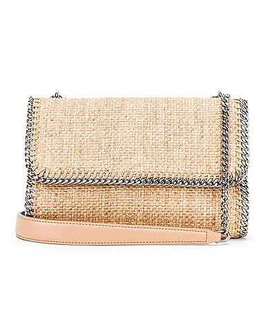 Rafia Falabella Shoulder Bag