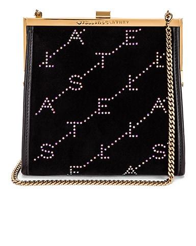Mini Frame Monogram Velvet Crystal Bag