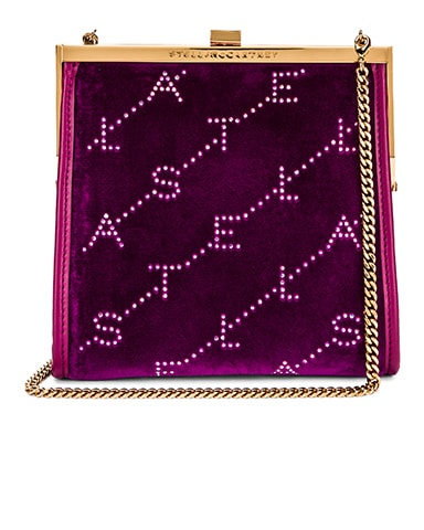 Mini Frame Monogram Velvet Crystal Bag