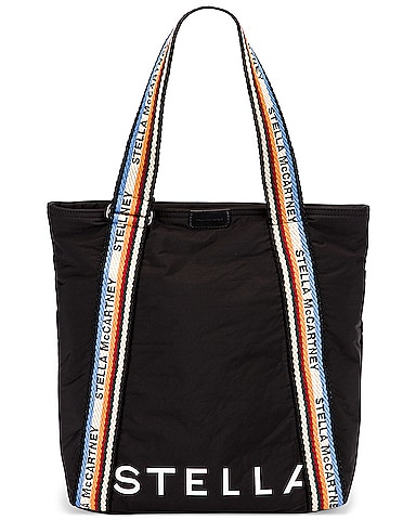 Medium Zip Padded Nylon Tote