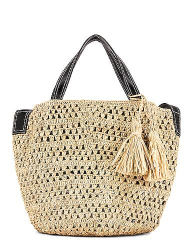 Ajouree Raffia Bucket Bag