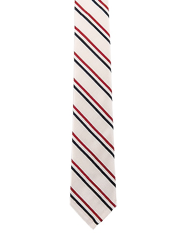 Classic Tricolor Stripe Necktie