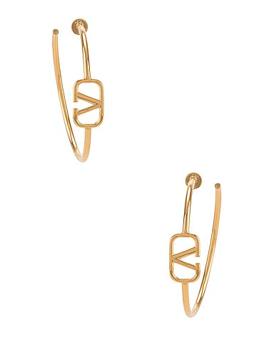 VLogo Hoop Earrings