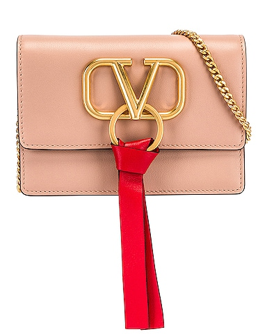 VLogo Ribbon Crossbody Bag