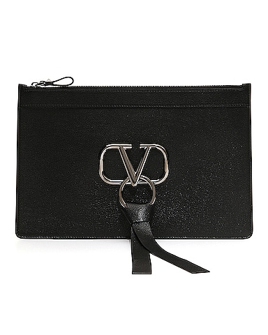 Large V Ring Flat Pouch