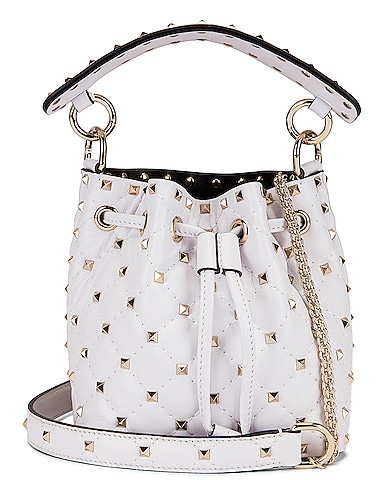 Mini Rockstud Spike Bucket Bag