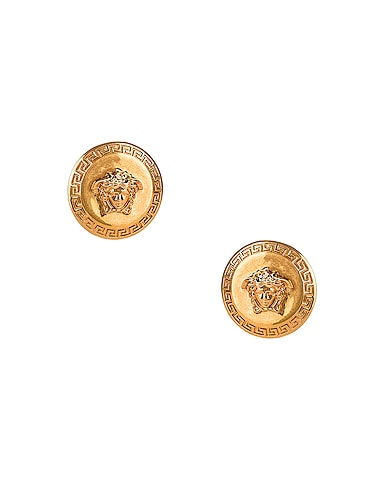 Coin Stud Earrings
