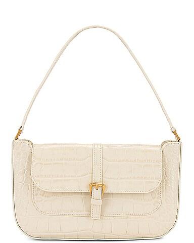Miranda Croco Embossed Leather Shoulder Bag