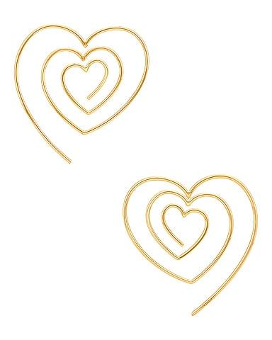 Heart Hoop Upside Down Earrings
