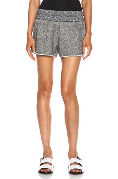 Elastic Waist Boxer Cotton-Blend Short