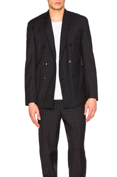 Lightweight Wool Suiting Blazer