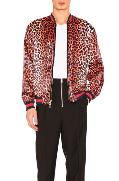 Reversible Leopard Souvenir Jacket