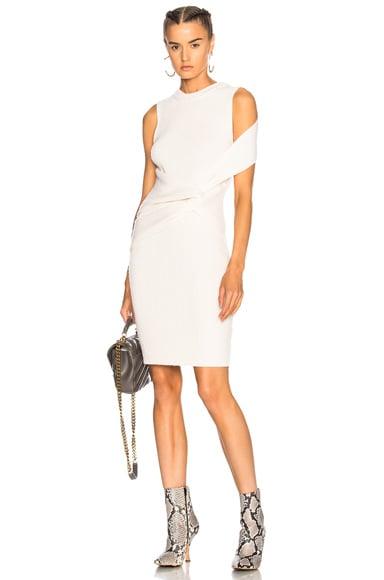 Draped Wool Twist Tank Dress