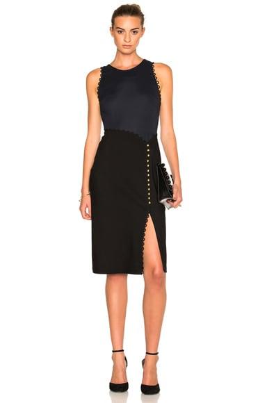 Button Sleeveless Dress