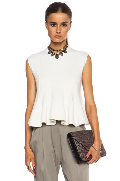 Cashmere Blend Flare Top