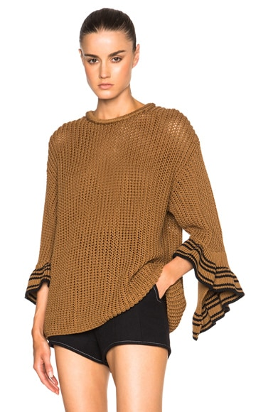 Cascading Rib Cuff Sweater