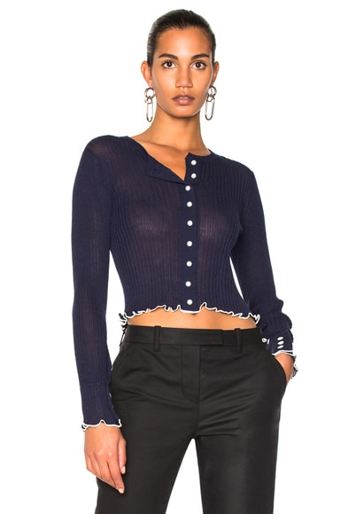 Lightweight Rib Cropped Cardigan
