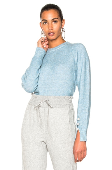 Inset Shoulder Pullover Sweater