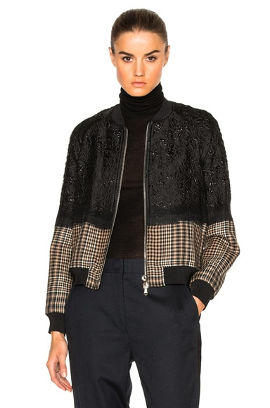 Needle Punch Bomber Jacket