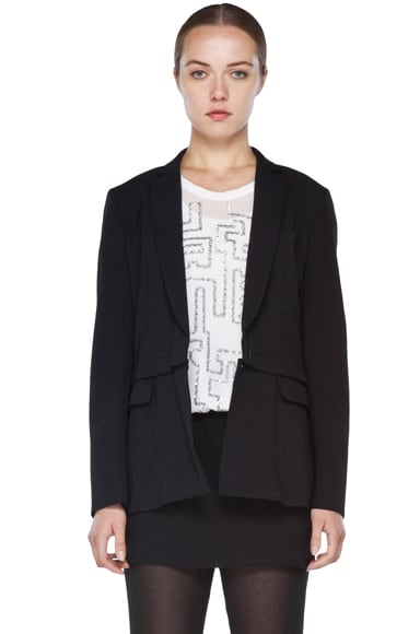 Blazer with Detachable Lower Panel
