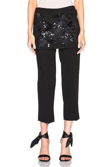 Apron Floral Lace Pants