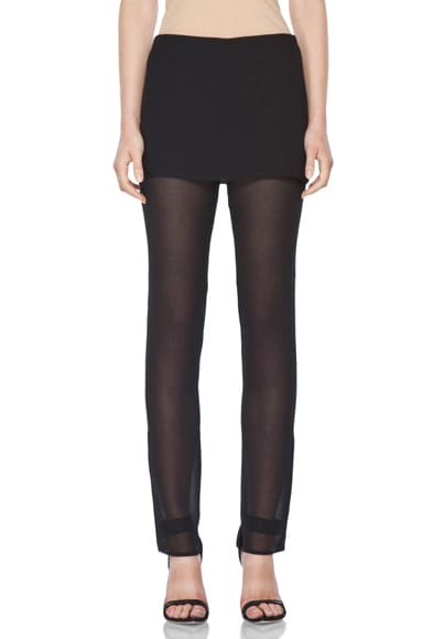 Slim Leg Trouser with Skirt Overlay