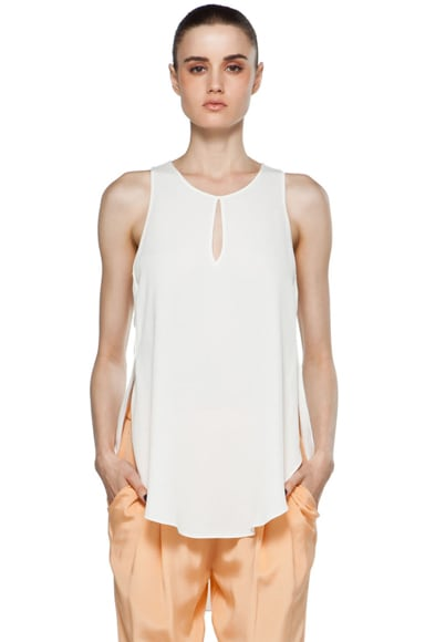 Sleeveless Tank w/ Overlapped Side Seams