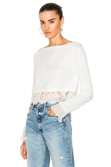 Long Sleeve Rib Cropped Top
