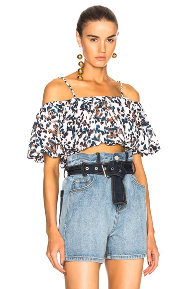 Off Shoulder Crepe Top