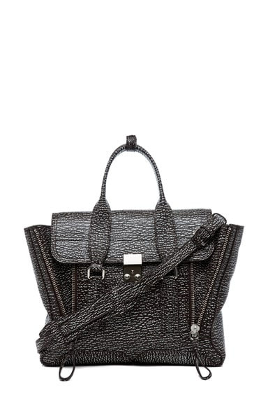 Medium Pashli Satchel Shark Embossed