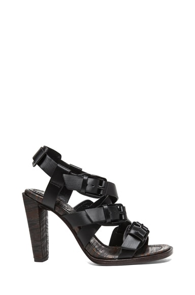 Leather Strapped Heel Sandals