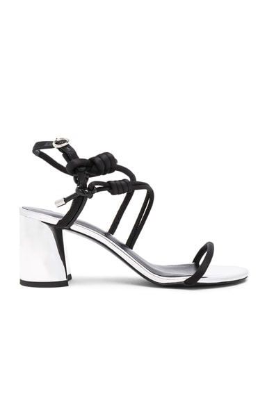 Strappy Leather Drum Heels