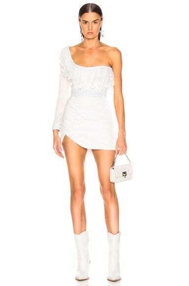Velvet One Shoulder Mini Dress