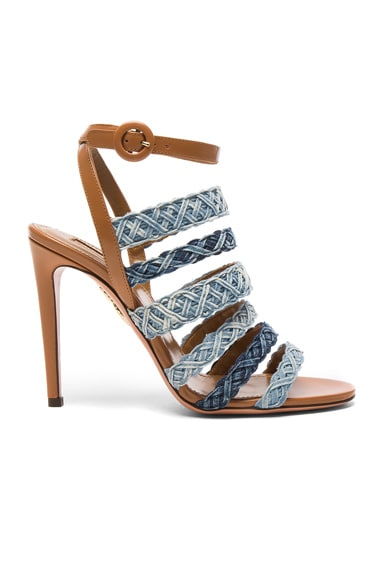 Braided Denim Tyra Heels