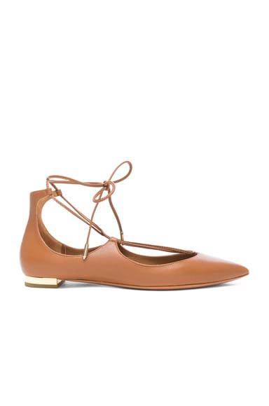 Leather Christy Flats