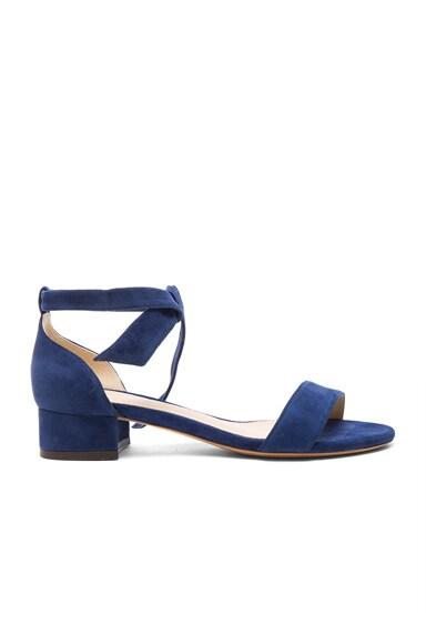 Suede Atena Block Sandals