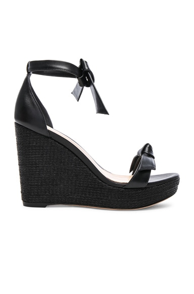 Leather Clarita 100 Platform Wedges