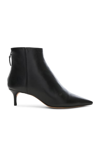 Leather Kittie Ankle Boots
