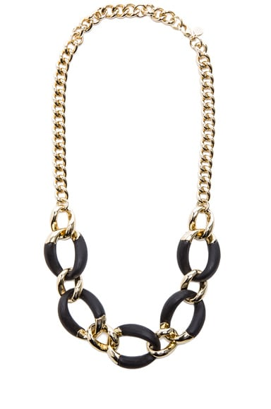 Neo Bohemian Lucite Curb Link Necklace