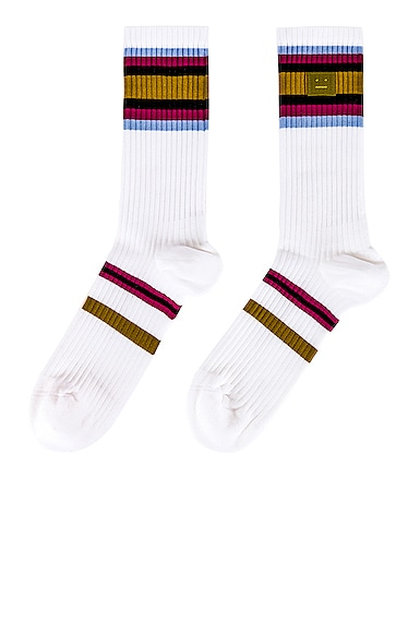 Rib Face Socks