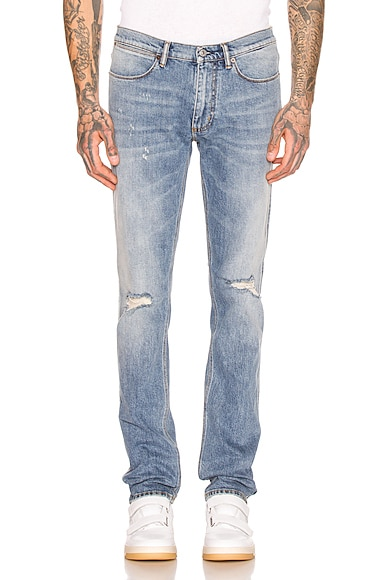 Max Mid Ripped 5 Pocket Denim Jeans