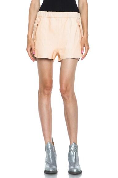 Maia Lambskin Shorts