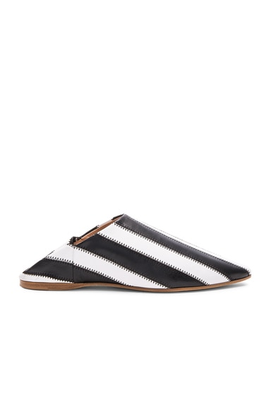 Leather Amina Patch Babouche Slippers