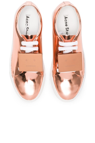 Adriana Metallic Leather Sneakers