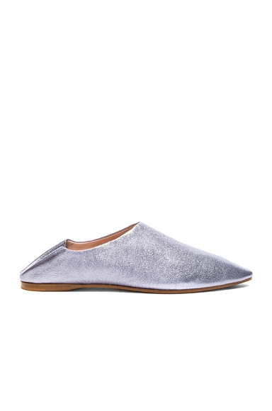 Leather Amina Space Flats
