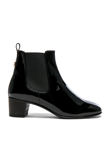 Patent Leather Hely Boots