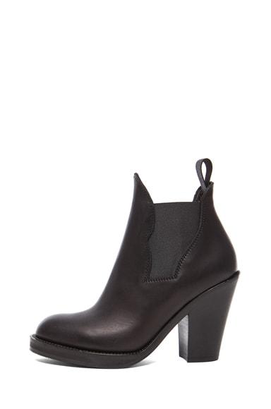 Star Calfskin Leather Booties