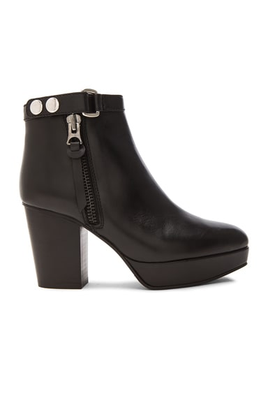 Orbit Leather Booties