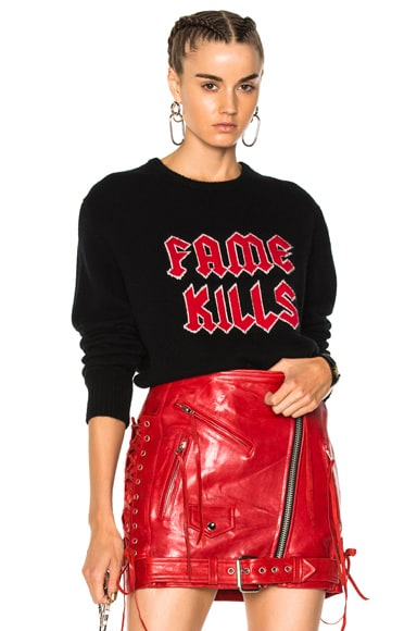 Fame Kills Cashmere Sweater